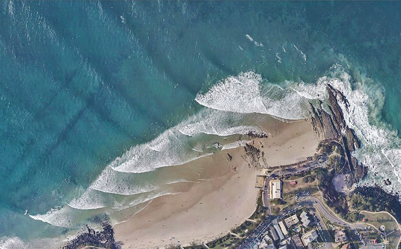 Aerial photo tweed sand bar