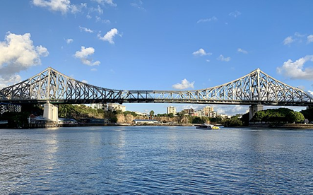 The Story Bridge today in the sunny Brisbane daylight.